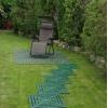 Плитка для быстрой сборки садовой дорожки на даче.