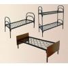 Железные кровати в бытовки,  одноярусные и двухъярусные кровати оптом